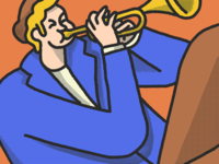 Man Playing Le Trumpet
