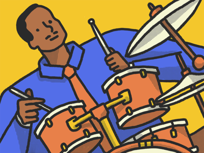 Man Playing Le Drums