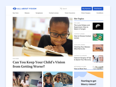 All About Vision Homepage