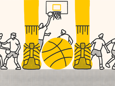 We Adopted Basketball nba publication magazine design asian asian american editorial graphic illustration basketball