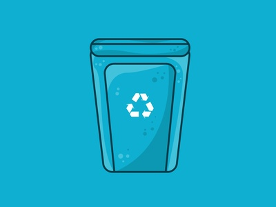 A vector illustration of a recycling concept