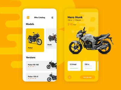 Bike Rent App UI