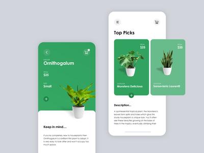 Plant Store App UI Prototype