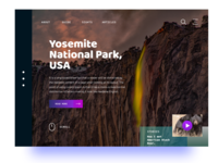 Main page for Yosemite National Park, USA