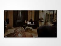 Restaurant aoc website branding flat minimal typography design graphic design ux webdesign web