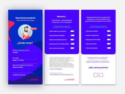 Formulario de contacto web app