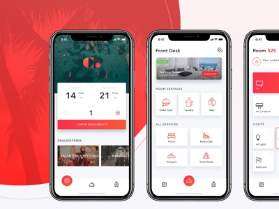 Hotel App app hotel app hotels smarthome ui
