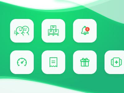 Menu Icons vector icon ui design illustration icon set