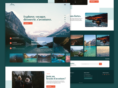 Hey! Want to travel? fonts photography design graphic conception interactive inte webdesign ux dream web landing discovery landscape blue green travel branding graphic design ui
