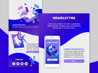 Newsletter - Flat Design