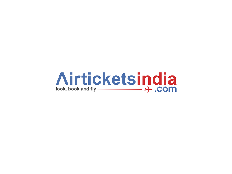 Air Tickets India Logo typography ui vector illuminated logo design illustration corel draw coreldraw branding brand