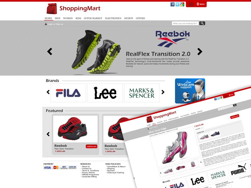 Shopping Mart Website css html web ux photoshop design ui website design website