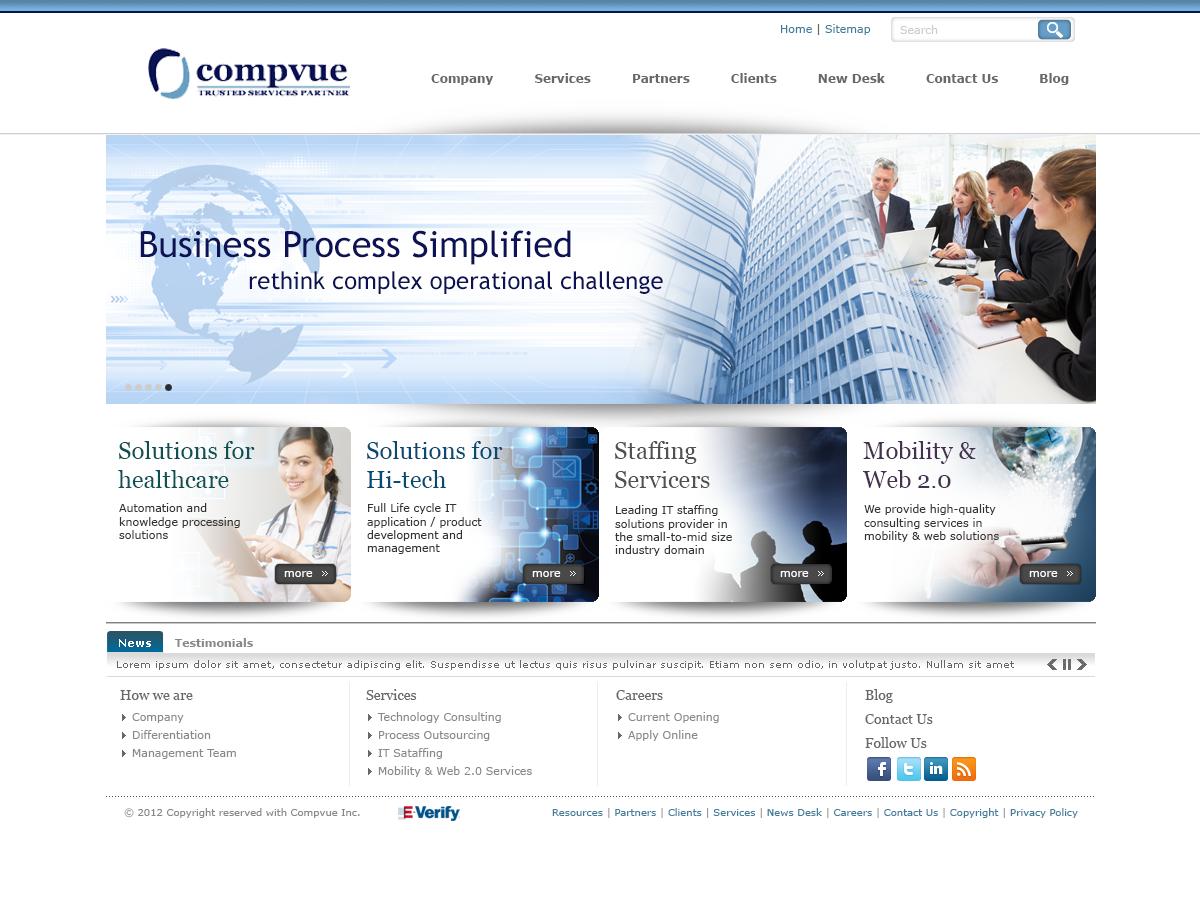 Compvue Website website photoshop branding brand design