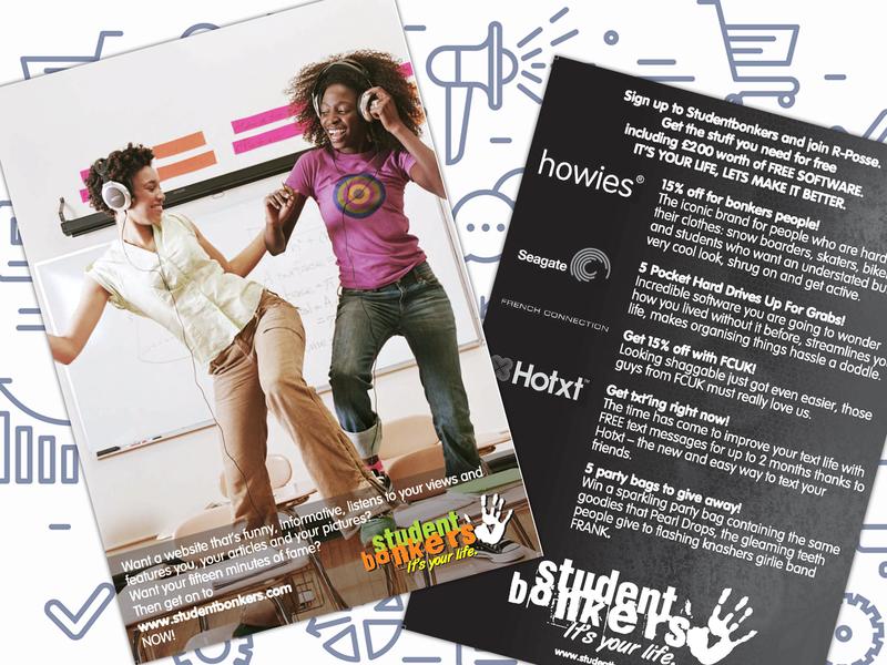 Student Bonkers - Leaflet leaflet print creative corporate typography coreldraw corel draw photoshop branding brand design