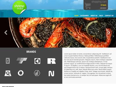 Shrimp India - Ecommerce Website