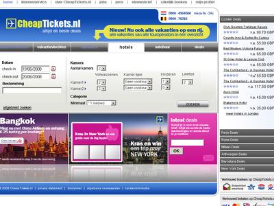 Cheap Tickets - NL Website