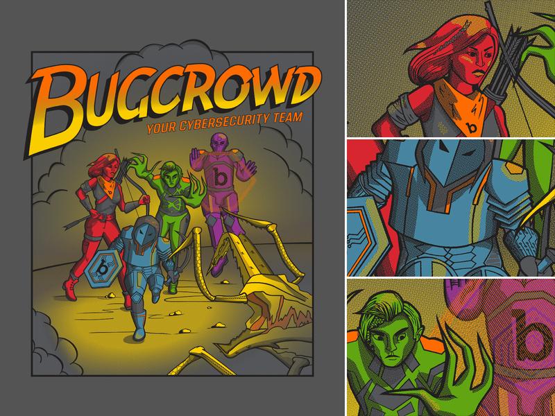 Bugcrowd T-Shirt t-shirt t-shirt design clothing design illustration design