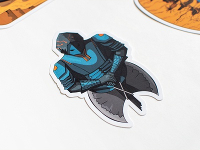 Bugcrowd - P1 Warriors Bust Sticker