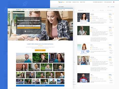 📚 FindTutor - Marketplace for tutors websites teach overview landing page e-learning searching teaching tutor corporate landing education website web modern minimal ux ui interface design