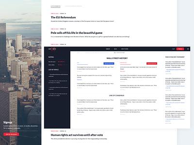 GotToVote Forum ballot goverment web app voting vote website web dashboad homepage corporate modern minimal clean ui ux interface design