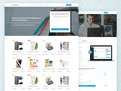 Coupon and discount website seller marketplace web design store shop blog deals discount coupon rebate website corporate homepage modern web clean ui ux interface design