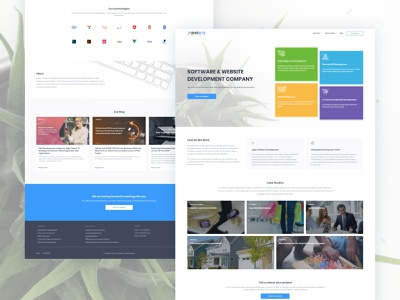 Software & Website Development Company website design website web ux design ux ui design ui modern minimal landing page interface homepage design corporate clean branding