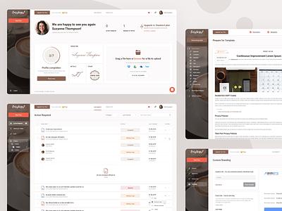 e-Signature service document dashboad cards app esignature esign website modern minimal corporate branding web ux ui interface design clean