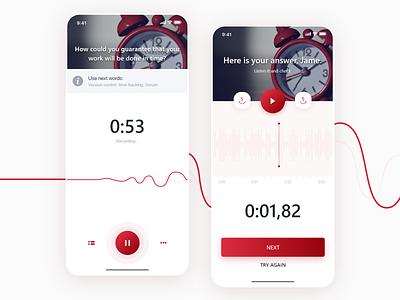 Mobile app - Learning English📚 ux education app learning interface education mobile app ios android app minimal modern design clean mobile app uiux ui