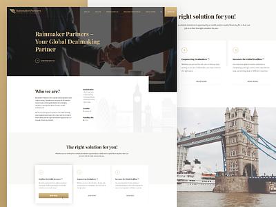 Landing page for dealmakers company landing homepage website corporate branding web modern minimal ux ui interface design clean