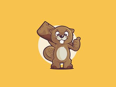 Beaver Mascot logo animal character animal vector mascot character mascot flat design flat character design character