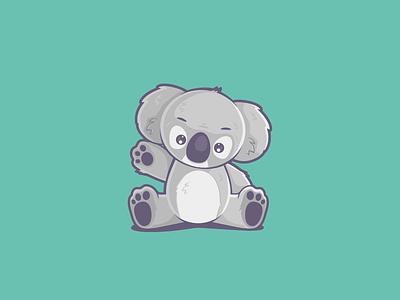 Koala Mascot logo vector animal character animal mascot character mascot flat design flat character design character