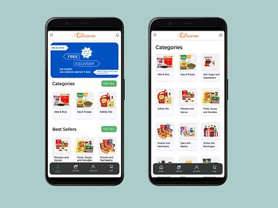 GoGroceries - Shopping App UI Design ui design app