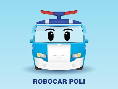 Robocar Poli squarish daily illustration drawing daily challange vector illustrator design challenge