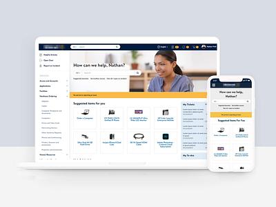 Multinational Retailer ServiceNow Service Portal Design enterprise software enterprise ux employee serviceportal retailer multinational branding newrocket animation servicenow design ui ux