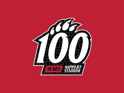 Cincy Centennial nippert stadium 100 years logo college football cincy bearcats cincinnati