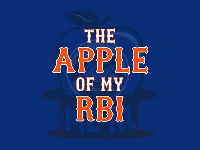 NY's Favorite Fruit rbi mlb home run apple home run big apple apple baseball new york new york mets mets