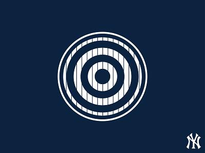 Hit It HeRe home run baseball bullseye hit it here target monument park all rise yankee stadium yankees aaron judge