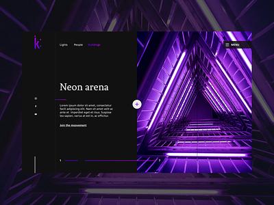 Neon Arena webdesign landing page ux  ui ui