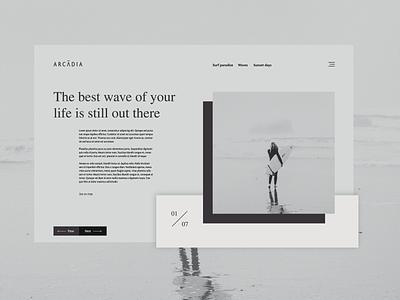 Surfer blog landing page webdesig ux design ux ui.