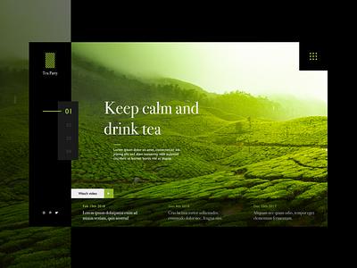 Tea webpage landing page webdesig uxdesign uidesign
