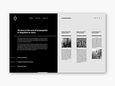 Propaganda Webpage black gray propaganda landing page webdesign ux design ui design