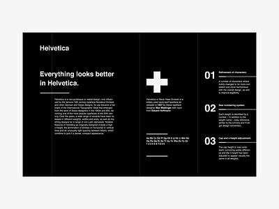 Helvetica exercice helvetica black ux design ui landing page