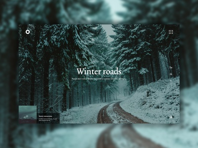Snow road shades of gray landing page ui ux ux design webdesign winter snow
