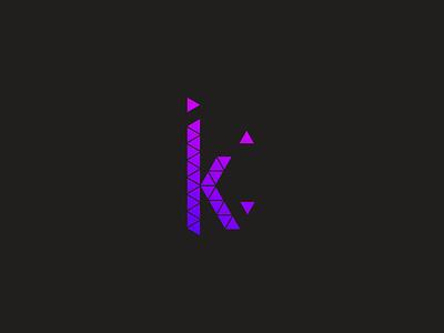 K Logo gradient logo gradient logo design logo