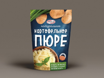 Mashed potatoes concept package concept fmcg potatoes branding design package