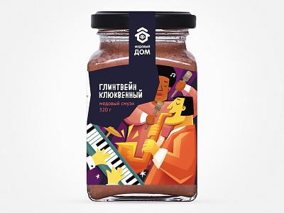 Медовый бар Клюквенный глинтвейн brand illustration food fmcg branding package design