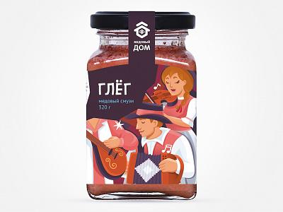 Медовый бар Глёг brand illustration food fmcg branding package design