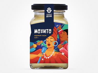 Медовый бар Мохито brand illustration food fmcg branding package design