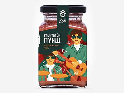Медовый бар Пунш brand illustration food fmcg branding package design