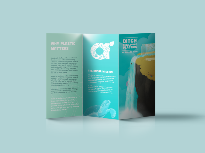 Andar Zero Waste Brochure procreate photoshop typography vector illustrator graphic design illustration design